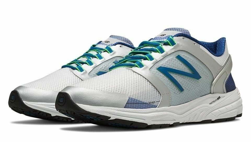 New Balance Mens Running Sneakers M3040SB1 White bluee NEW