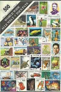 Collection-Packet-of-500-Different-WORLD-Stamps-Postmarked-Used-Condition