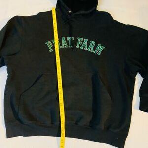 Phat Farm Unisex Graphic Hoodie Black Pullover Spellout Logo Pocket Sweatshirt L Ebay