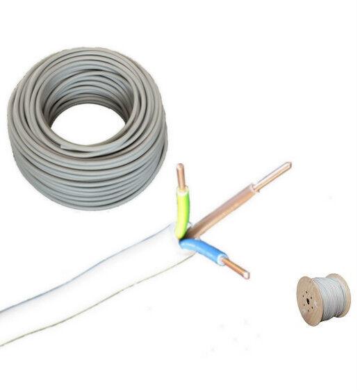 (  m) NYM-J 3x1,5mm² Kabel Elektrokabel Stromkabel Feuchtraumkabel ab 50m