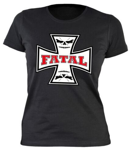 camisa Motero Motorista style señora camisa vigas Biker motivo motocicleta señora T-Shirt EE UU