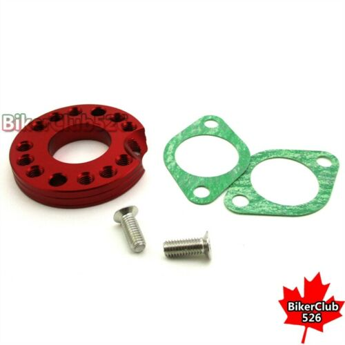 26mm Red Carburetor Adaptor Mainfold Spinner Plate For Monkey Dax Pit Bike ATV
