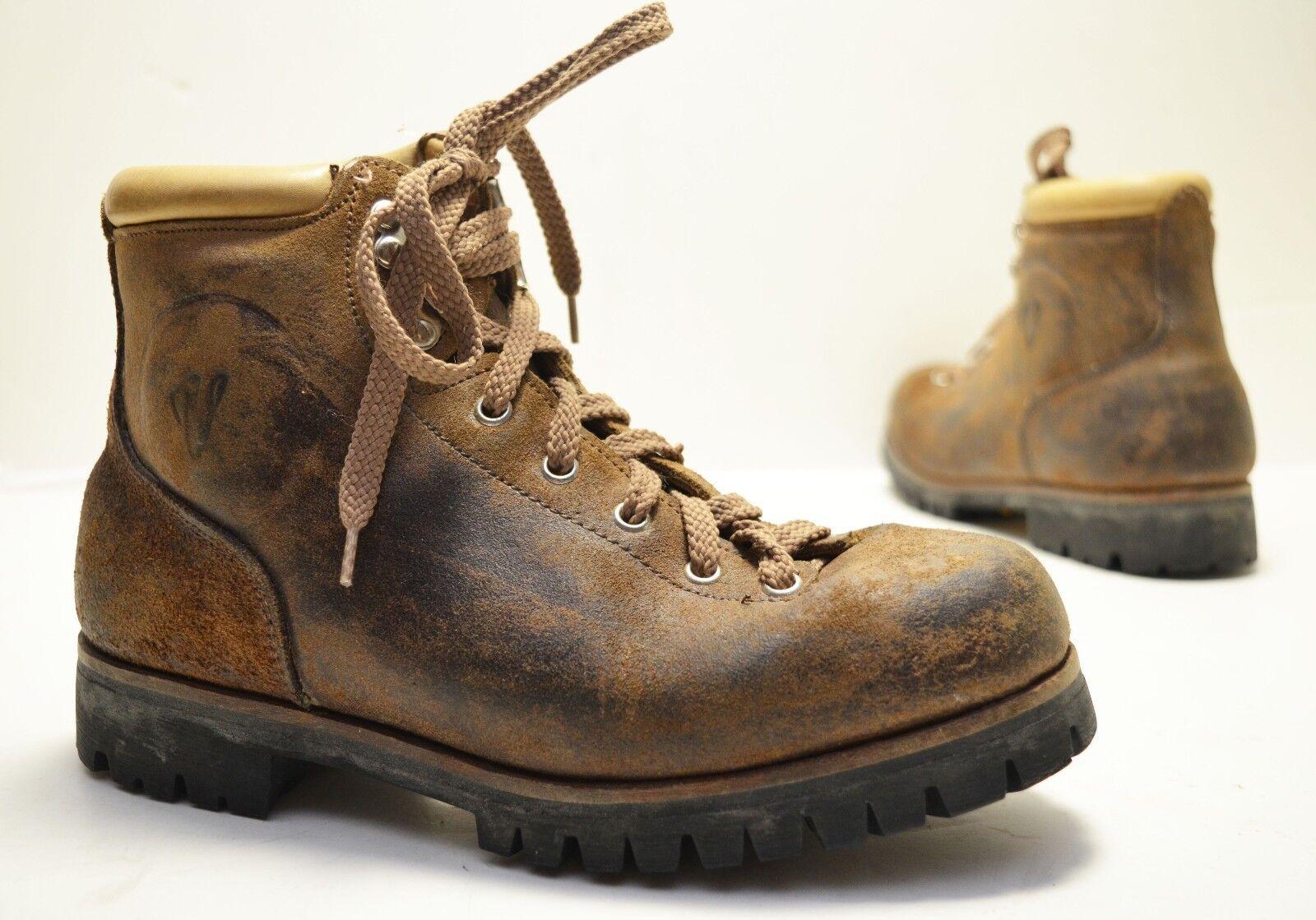 Vintage Vasque Split Hide Brown Leather Hiking Mountain Boot ...