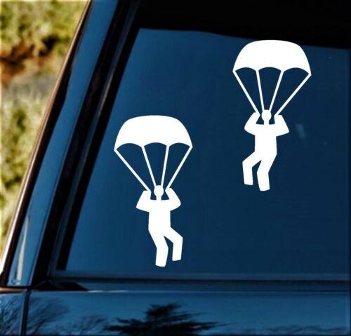 PARACAÍDAS SKYDIVING Airborne Paracaidista Calcomanía Adhesivo para Coche Ventana BG 332