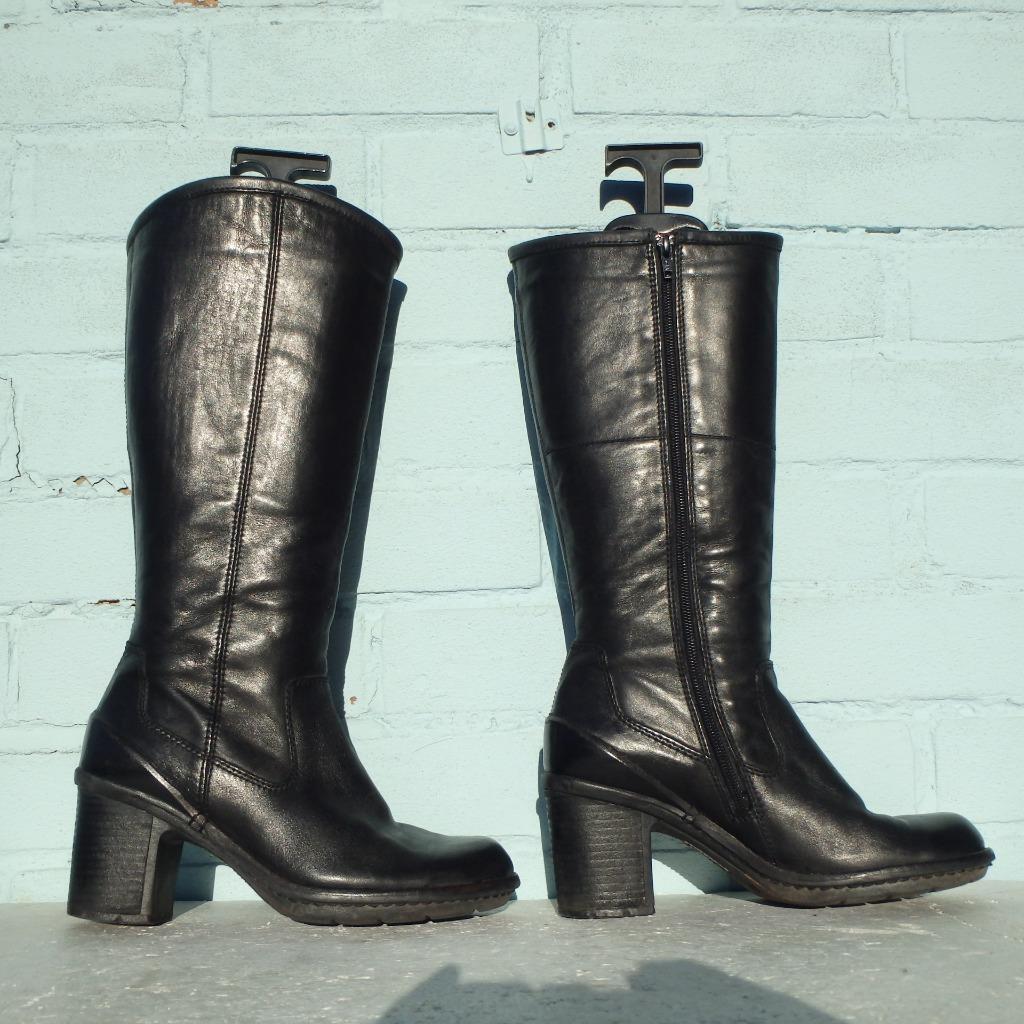 Clarks en cuir noir pointure UK 5 EUR 38 Pour Femme Sexy bottes femmes