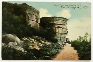 Postcard-Near-Ellenville-NY-Sam-039-s-Point-View-1910-039-s-1911-Dirt-Road-Cliffs