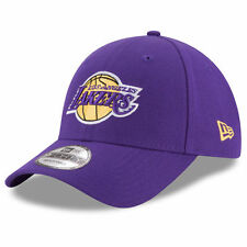 New Era 9FORTY NBA Los Angeles Lakers Purple Curved Peak Hat Strap Baseball Cap