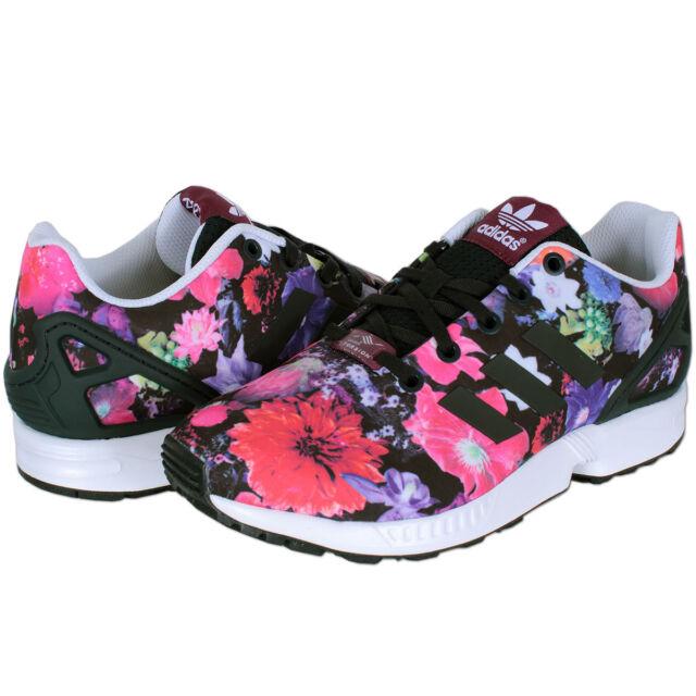 c0fadf5265516 adidas Originals Schuhe Sneaker ZX Flux Freizeit Sportschuhe bunt  Blumenmuster