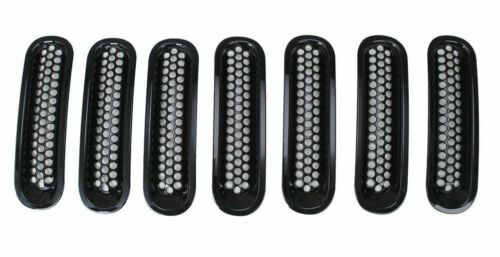 2007-2016 jeep wrangler jk 7pc Grill Noir tuning Front Grille-Grill NEUF