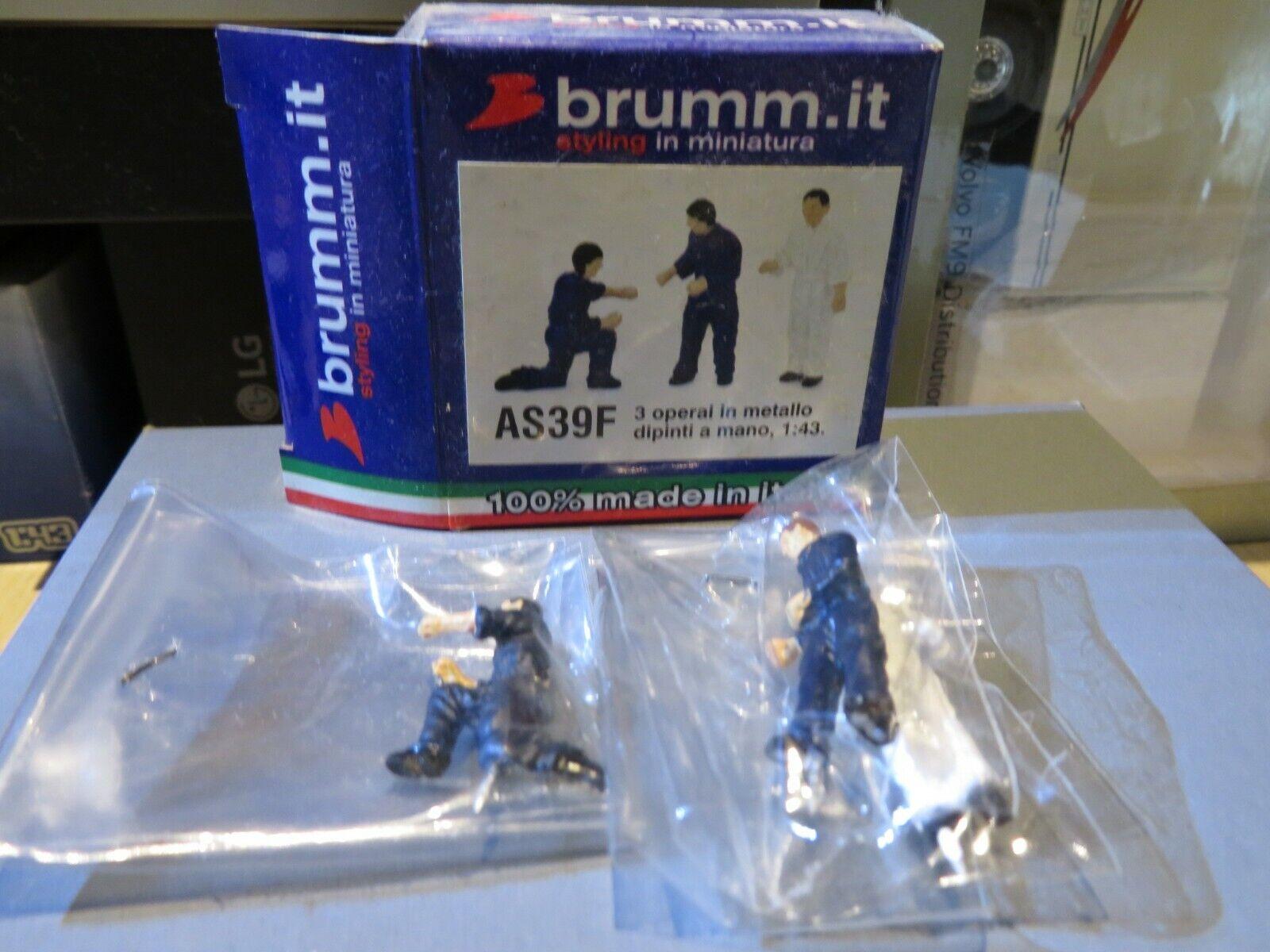 1 43 43 43 brumm figure 3pcs set laborer (approx. 4cm tall each) AS39F f00c54