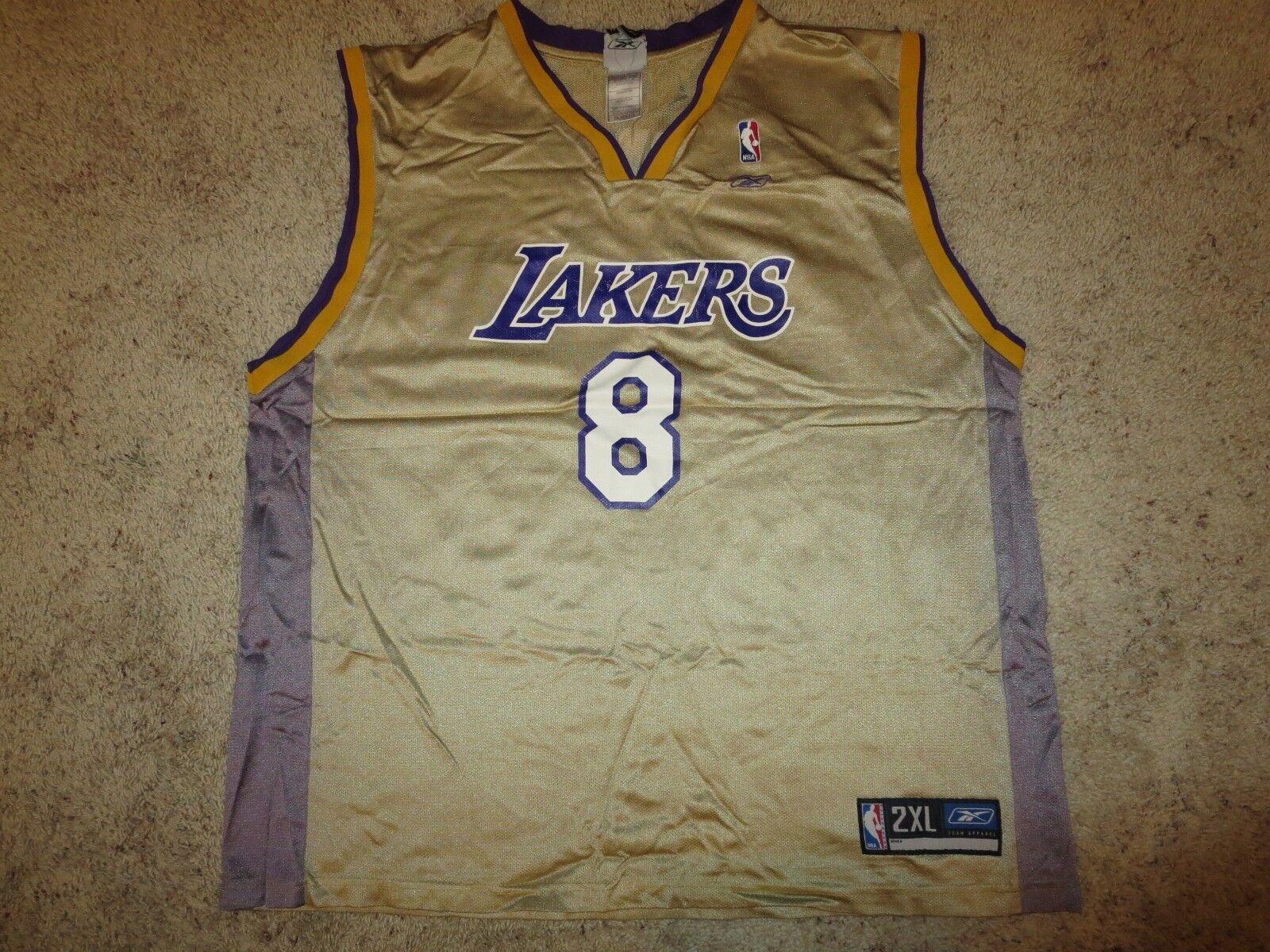 Kobe Bryant  8 Los Angeles Lakers Lakers Lakers Gold Reebok Ausgabe Trikot XL Herren  | Moderate Kosten  3715ef
