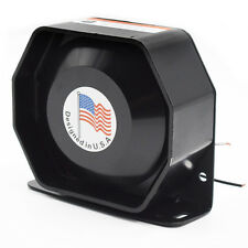 200W 12V Compact Loud Speaker PA System Horn Emergency Warning Siren Trig