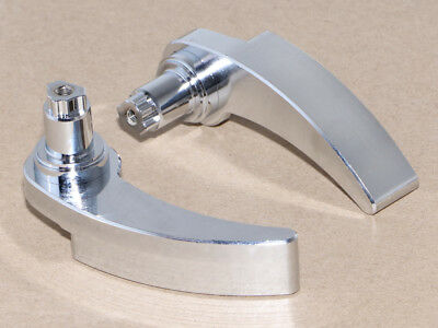 Saddlebag Edge Cut Latch Cover /& Lid Lifter Levers For Harley Touring FLHR 14-18