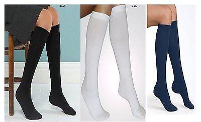 12x Pairs Women Girls Kids Long Knee High Cotton Everyday Plain Socks ZuverläSsige Leistung