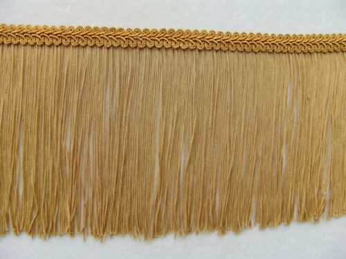 "TWO YARDS or MORE  5 3//4/"" Gold Chainette Fringe PLUS Decorative Trim Lampshades"