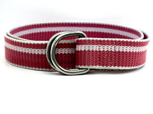 Fat-Face-Fabric-D-Ring-Belt-Pink-and-White-Size-M-L