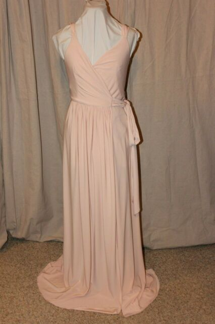 NWT Size 10 Rose Quartz Sorella Vita 8874 Soft luxe jersey knit long formal