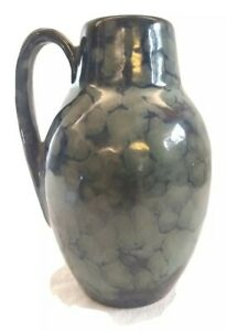 Mid Century German vase with lava glaze
