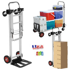 2 In 1 Folding Hand Truck Stair Climber Cart Adjustable Aluminum Cart Heavy Duty