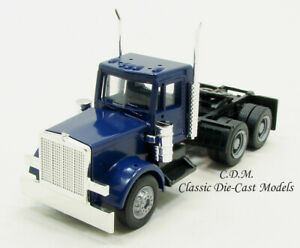 Peterbilt-Day-Cab-Blue-Tractor-w-New-Grill-1-87-HO-Scale-Herpa-Promotex-15285
