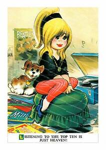 Details about The Top ten  Vintage 60's magazine illustration poster  reproduction