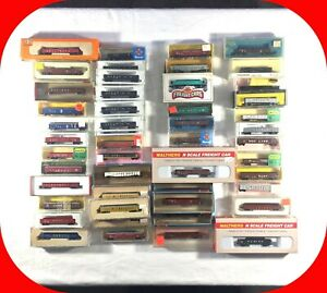 N-Scale-Gondola-Car-Variety-lot-Con-Cor-Trix-Ahm-etc-Covered-Freight-Load