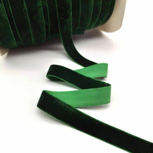 5 Yards 6-25mm Velvet Ribbon Decoration Handmade Gift Wrapping Hair Bowknot Diy