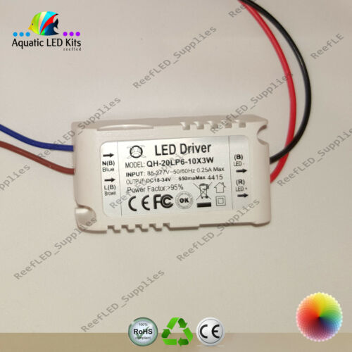 18,21,24,27,30w LED None Dimming Driver Aquarium, Coral, Fresh Water Hydrophonic