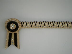Crème Brown & Gold suprême pierre angulaire Browband-montrant velours Browband £ 25.99  </span>