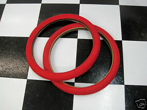 2-RED-20-x-1-95-034-Snake-Belly-Old-School-BMX-Freestyle-Bike-MX-Bicycle-TIRES