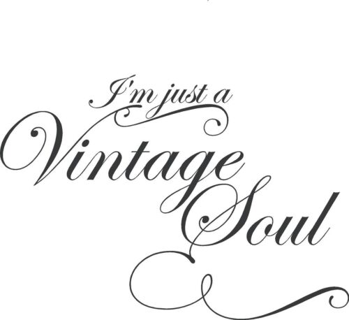 I/'M JUST A VINTAGE SOUL Vinyl Lettering Words Wall  Decal Decor Sticker