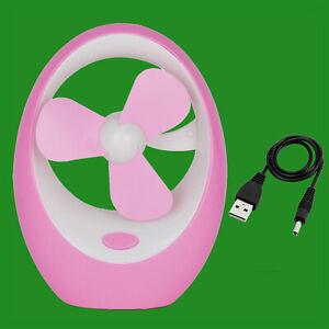 Portable Usb & Fonctionne à Piles Rose Mini Ventilateur Bureau Glacière Emg3tlrp-10125512-163887425