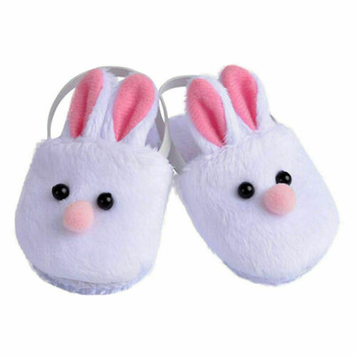 "White Bunny Slippers Rabbit Shoes Suit for 18/"" Doll Toy  Clothes Kids Toy F5X6"