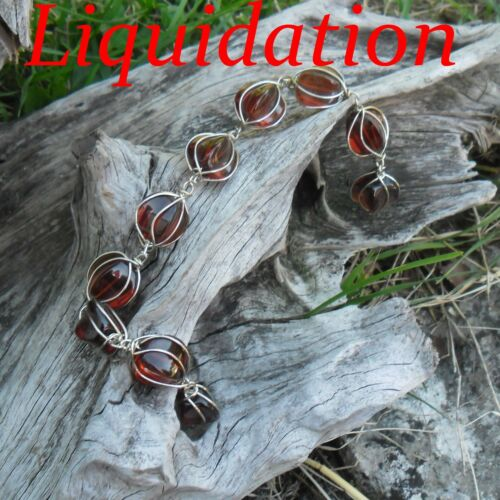 10 Perles de verre fil métallique 14 x 25 mm //