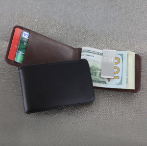 Personalized-Leather-Folding-Case-with-Money-Clip-Wallet