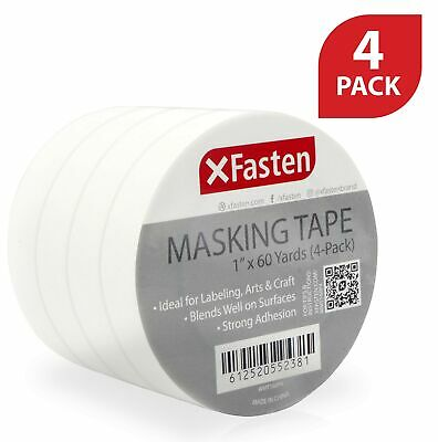 XFasten Professional Blue Painters Tape Pack of 3 1.5 Inches x 60 Yards