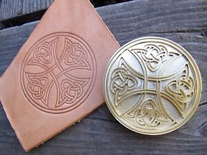 Brass-CELTIC-CROSS-Bookbinding-Letterpress-Tool-Stamp-leather-embossing-die