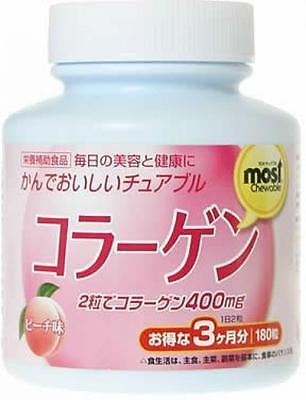 ORIHIRO MOST chewable collagen peach flavor 180 tablets 3 months