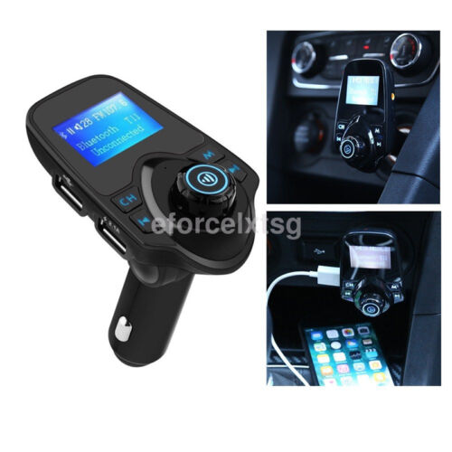 Fashion Car Kit Wireless Bluetooth FM Transmitter Handsfree USB LCD MP3 Player