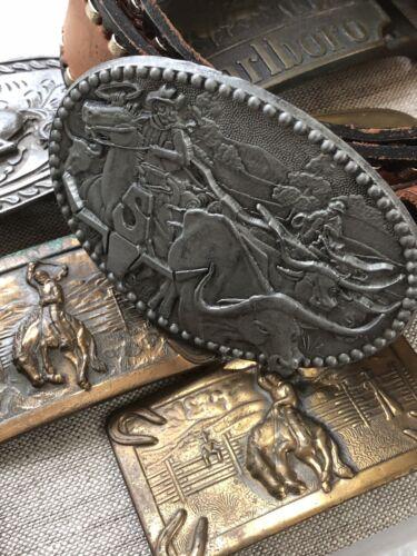 vintage belt buckle lot