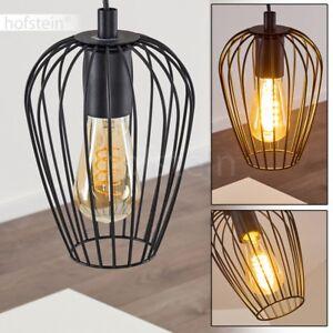 schwarze Pendel Lampen Ess Wohn Schlaf Zimmer Beleuchtung Retro Hänge Leuchten