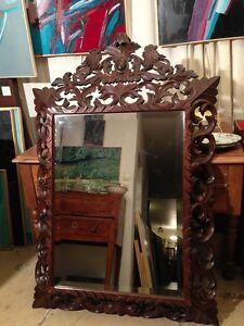 Miroir Sculpté Début 20ème _ H : 141 Cm / L : 93 Cm / P : 18 Cm 3fke2tmu-10041152-599223611