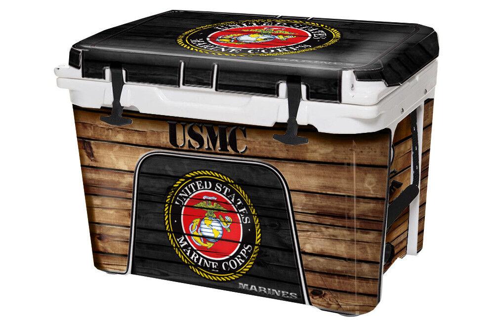 USATuff Custom Cooler Decal Wrap fits YETI Tundra 110qt FULL USMC WD