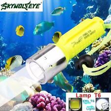 Zoom 3500LM XM-L T6 LED Underwater 130M Scuba Diving Flashlight Torch Lamp Light