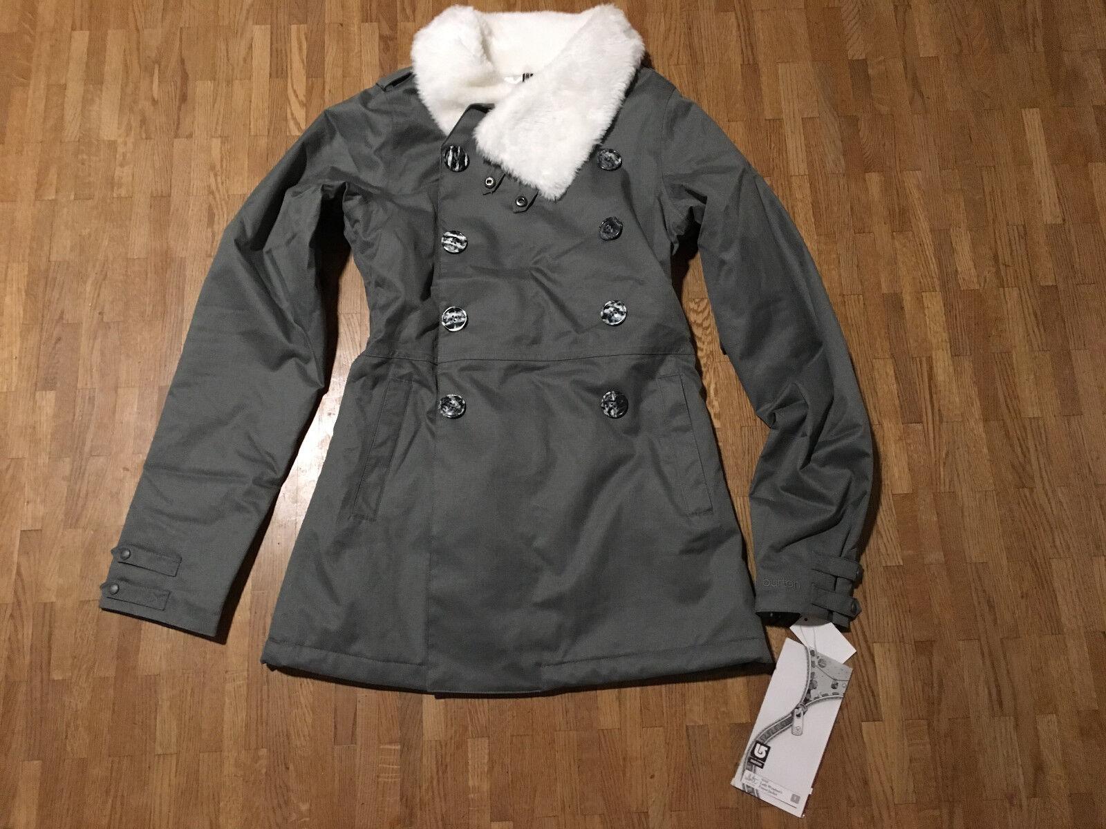 BURTON Lady Windsor`s Finest Jacket WTC Gr. 34 Weiß Collection Snowboard Jacke