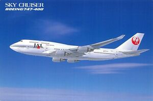JAL JAPAN AIRLINES~SKY CRUISER=BOEING 747-400 POSTCARD