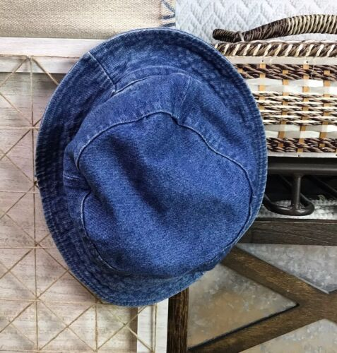 Cobra Snake Medium Wash Blue Jean Denim Bucket Hat