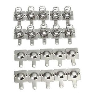 10-50-100-Paar-Batterie-Kontakt-Batteriefeder-Metall-Silber-fuer-AA-AAA-Batterien