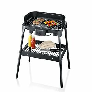 Severin-2792-Barbecue-2500W-25-more-Surface-with-legs-BBQ-Grill-Water-Tray-New