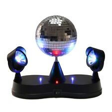 "PARTY DISCO DOPPEL RGB LED PROJECTOR STRAHLER 5"" DISCOKUGEL LICHTEFFEKT Mlb13"
